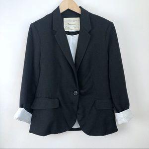 Anthropologie Cartonnier Black Lined Blazer Large